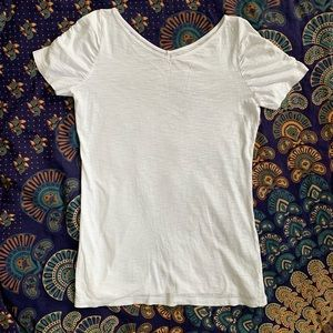 Lily Pulitzer White Ruched Sleeve Tee